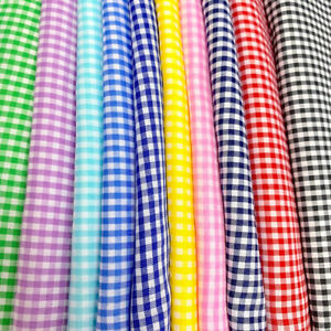 Gingham 1 12quot; Wide Square Fabric 60quot; Wide Checkered Plaid Design By The Yard $4.99