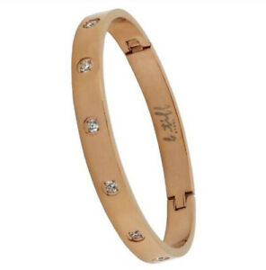 B. Tiff Rose Gold Plated Stainless Steel Star Bangle Braclet