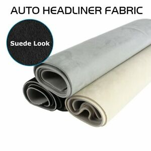 SUEDE Headlining Fabric Headliner Upholstery Foam Back 5FT Wide By FTFootFeet