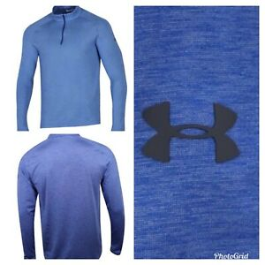 Under Armour 14 Zip Pullover Mens Golf Layering Top -Royal Blue- Choose Size