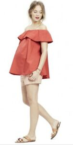Hatch Maternity Women's THE CHLOE TOP Poppy Red Size P (Petite) NEW