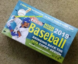 2019 Topps Heritage High Number Baseball Hobby Box Free Priority Mail !!!!