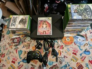 Original Xbox Black Console System Tested +1 GAME +1 OFFICIAL XBOX CONTROLLER