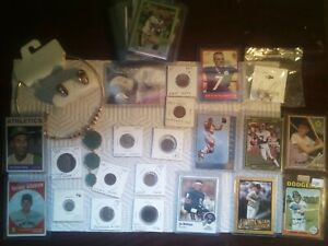 Junk Drawer LOT Vintage , BALL CARDS, JEWELRY, RINGS, GREAT COINS! EXTRA STUFF!