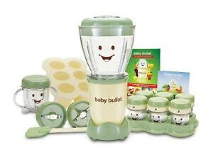 Magic Baby Bullet BBR-2001Complete Food Blender Processor System Green 20 pieces