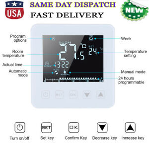 Electric Programmable Heating Thermostat Temperature Controller Touch Screen