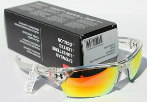 UNDER ARMOUR Igniter 2.0 Sunglasses Crystal ClearOrange NEW SportCycle $105