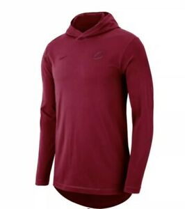 Nike Cleveland Cavaliers Cavs Long Sleeve Hoodie T-shirt Wine Men's Extra Large