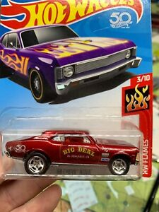 '68 Chevy Nova  Hot Wheels Custom Made Nova  W/ Real Riders Big Deal Racing