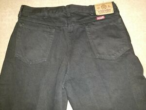 Vintage Men's Black Wrangler Made in USA Relaxed Fit Jeans Size 34x30  36x30