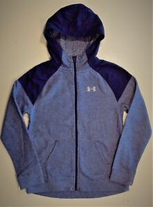 Girl's Under Armour Hoodie YMD 8-10-12 Purple Full Zip Coldgear Fleece hoodie