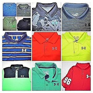 Youth Boys UNDER ARMOUR POLO Shirts -All sizes School Casual Play