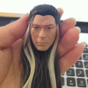 1 6 Chinese Ancient Male Head Sculpt Long hair Style Louis Koo F 12#x27;#x27; Figure Toy $28.99
