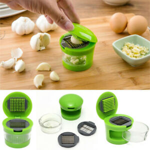 Garlic Grater Chopper Mini Portable ABS Stainless Steel Hand Press Grinde