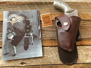 Vintage Tex Shoemaker Cordovan Brown Paddle Holster For S&W Model 640