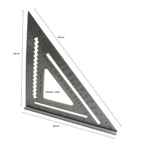 Rafter Square Protractor Miter Ruler Aluminum 305×305mm BD AS03 $29.20