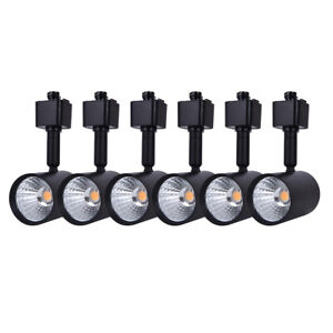 6 Pack LED Track Lighting Heads Compatible with Single Circuit H Type Track