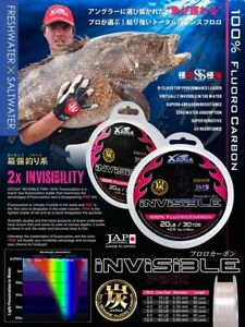 XZOGA #x27;#x27;INVISIBLE#x27;#x27; Fishing Line Invisible 100% Fluorocarbon Fishing Line 30yds