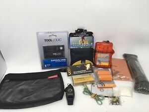 Survival Emergency Kit Solar Blanket Compass Whistle  First Aid Packtowl Signal
