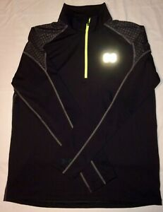 EUC Under Armour Performance Apparel Run Black Fitted LongSleeve Pullover Mens L $22.25