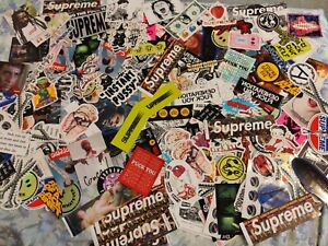 100% Authentic Rare Supreme Stickers Huge Lot FW16-FW19 Brand New Mystery Bundle