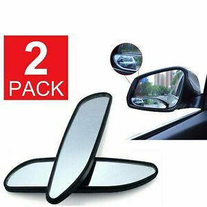 Blind Spot Mirror 2 pcs Auto 360° Wide Angle Convex Rear Side View Car Truck SUV