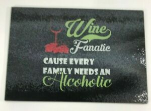 **NEW** TEMPERED GLASS CHEESE CUTTING BOARD WINE LOVERS GIFT