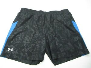 UNDER ARMOUR Shorts Men's Size XXL Athletic HEATGEAR Inner Brief Fitted Black