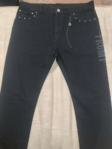 Louis Vuitton X Fragment Design Slim Jeans Denim Black Size 32 NWT authentic