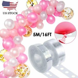 5m Balloon Chain Tape Arch Frame Connect Strip Wedding Birthday Party Decor Tool