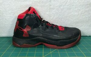 Under Armour Curry 2.5 Black & Red Basketball Shoes Sneakers Boy's Size 6.5Y $17.99