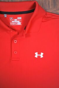 Under Armour Performance Polo Shirt Red Men's Large L