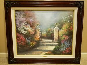 Thomas Kinkade The Victorian Garden 24 x 30 G P Canvas $2600.00