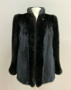 Elegant Natural Ranch Mink with Stand up Collar Size X Small #1909-1