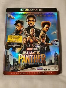 Black Panther: wSlip Cover (4K Ultra HD Blu-ray) LIKE NEW CONDITION!!