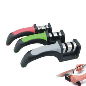 Household Handle Knife Sharpener Kitchen Tool 2 Stage Coarse and Fine Grinding