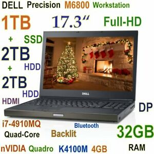 # 3D-Design DELL M6800 i7-4900MQ 1TB SSD + (2TB + 2TB) HDD 32GB 17.3