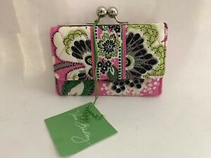 Retired Rare Vera Bradley Priscilla Pink Kisslock Wallet ~ New with tags!