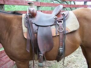 Used McCall 15 inch ranch saddle very good condition.