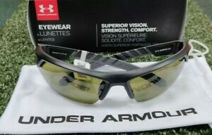 New Under Armour Igniter 2.0 GolfSport Sunglasses Satin Black Game Day