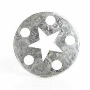 Star Large Galvanized Metal Candle Capper Topper 3 1 4 Diameter $6.50