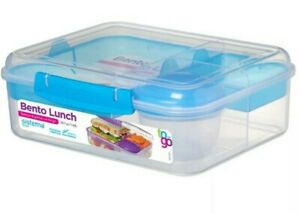 Sistema Bento Lunch To Go, Blue Healthy Lunchbox Work School Travel On the Go