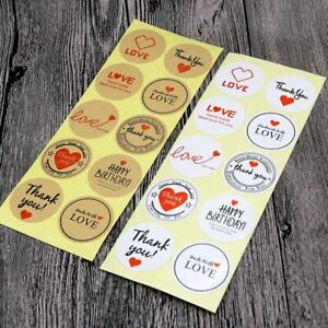 Gift Bag 100pcs Kraft Paper Christmas Sticker Party Wrapping Supply Decoration