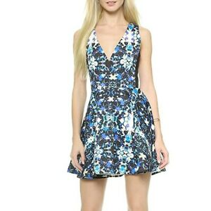 findersKEEPERS Get Away Dress XS Kaleidoscope Print Fit And Flare Multicolor
