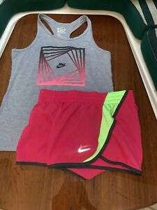 Nike Tempo Shorts GIRLS Size Youth Large Dri Fit Lined Running Athletic Shorts