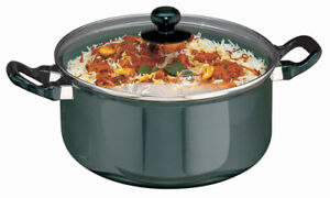 Futura Nonstick Cook n Serve Stewpot 5 L With Glass Lid By Hawkins NST50G