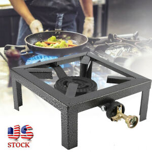 Portable Camp Stove Single Burner Stainless Propane Gas Stove Outdoor BBQ Cooker