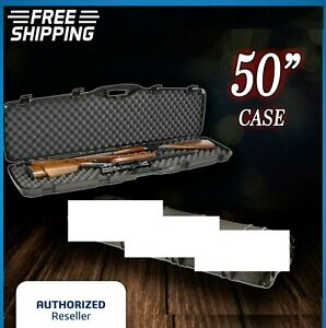Double Carry Rifle Hard Case Foam Padded Sports Outdoors 2 Gun Storage Lock Box