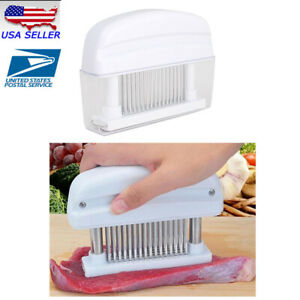 48 Needles Stainless Steel Blade Meat Tenderizer w ABS Plastic for Beef Port