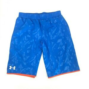 Boys Under Armour Lacrosse Youth Blue Shorts Loose Fit - SMXL